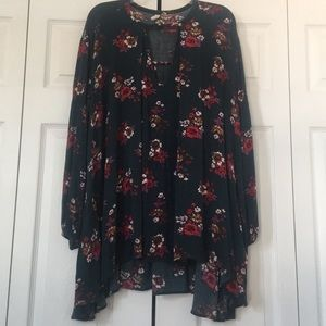Free People Floral Tunic Top